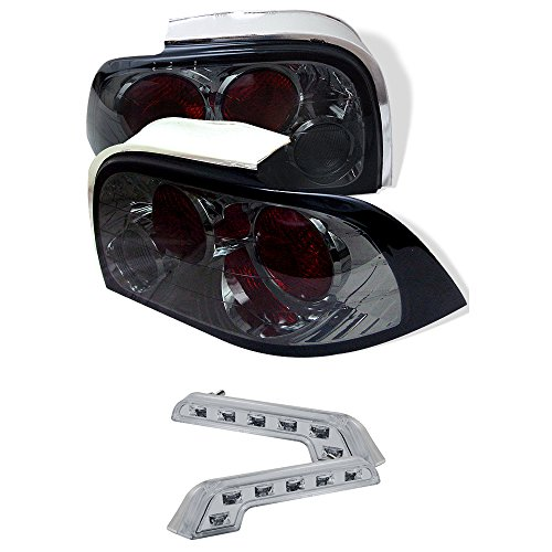 Carpart4u Ford Mustang Euro Style Smoke Tail Lights & LED Day Time Running Light Package