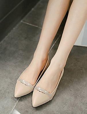 DFGBDFG PDX/Damen Schuhe Microfaser/Glitter flach Ferse Ballerina/spitz Wohnungen Office & Karriere/Casual Schwarz/Silber, silver-us9.5-10/eu41/uk7.5-8/cn42 - Größe: One Size