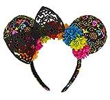 Disney Parks Dia de los Muertos Coco Minnie Mouse Ears Headband New with Tags