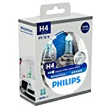 Philips WhiteVision Xenon Effect H4 Headlight Bulb 12342WHVSM, Twin Pack