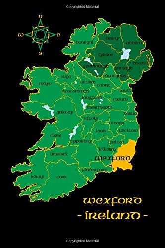 Wexford Map Of Ireland.Wexford Ireland County Map Irish Travel Journal Republic Of Ireland