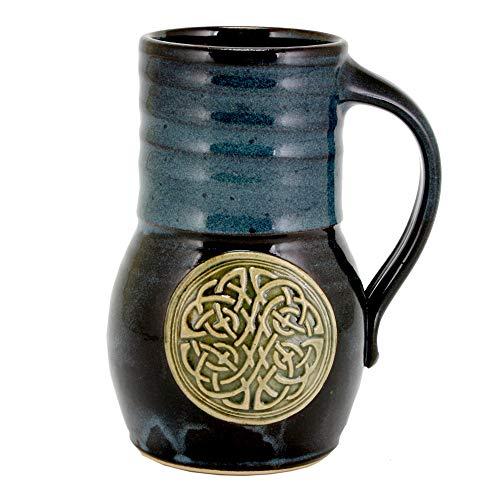 - 20oz Beaker Beer Mug with Celtic Knot emblem and Glaze (1, Blue)