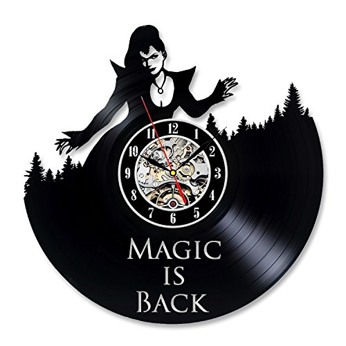 Once Upon a Time Design Vinyl Record Creative Wall Clock