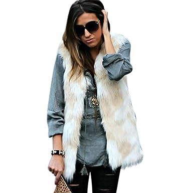 ed59b31bf63 Oksale Womens Ladies Sleeveless Gradient Color Waistcoat Solid Winter Loose Vest  Coat Autumn Coat  Amazon.in  Clothing   Accessories