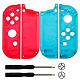 YoRHa plastic replacement repair kit theme case shell for nintendo switch Joy-Con controller (red+blue) With Screwdriver