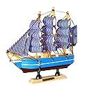 monkeyjack地中海スタイルハンドメイド木製ヨットモデル装飾ボートギフトおもちゃ4styles e65a62b3041aef81e772727756648ad4