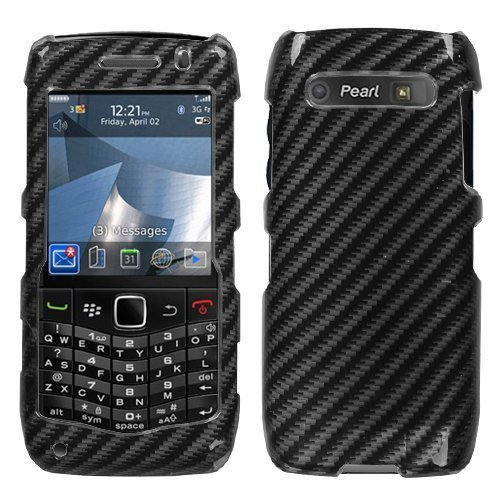 Racing Fiber(2D Silver) Phone Protector Faceplate Cover For RIM BLACKBERRY 9100(Pearl 3G) - Pearl Blackberry Faceplates