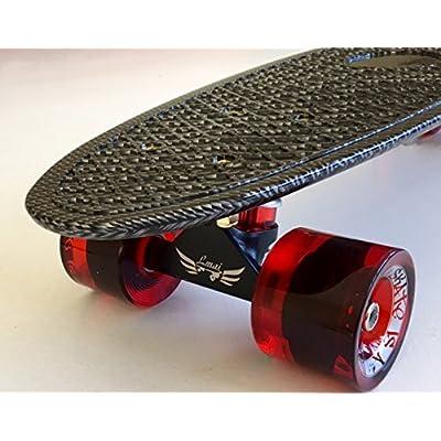 Lmai 22'' Cruiser Skateboard Grapnic Floral Galaxy Complete Skateboard (Fiber) : Sports & Outdoors
