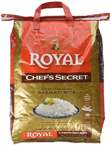 Royal Chef's Secret Extra Long Basmati Rice, 20 Pound