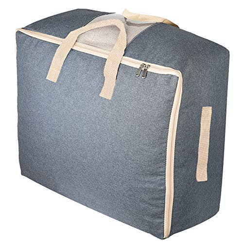 - Qozary Large Storage Bags for Comforters, Blankets, Clothes, Quilts and Towels, Better and Sturdy Organizer Bag, Under Bed Storage, Great for Closets, Bedrooms, (Gray)
