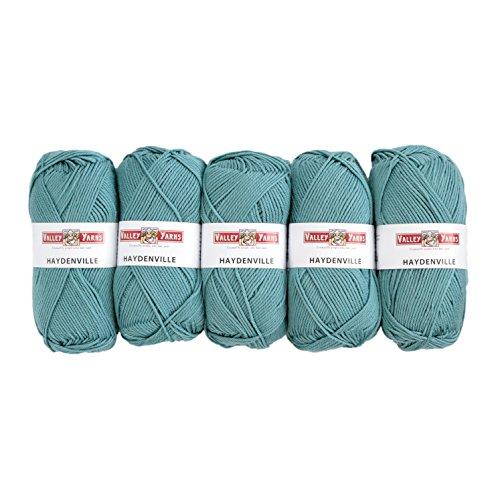 (Valley Yarns Haydenville 5-Pack (Washable Worsted Weight Yarn, 60% Superwash Merino Wool/ 40% Acrylic Microfiber) - #15 Lake)