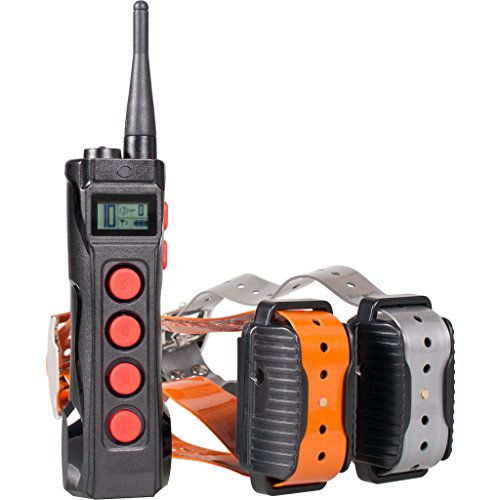 Aetertek AT-919C Super Two Pet Dog Electronic Shock Collar Training System For Sport Large Dogs 1000M Remote Range Waterproof Rechargeable collars by Aetertek
