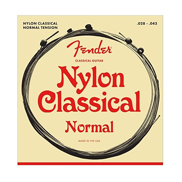 Fender .028 – .043 130 Nylon Ball End Medium Folk Guitar Strings