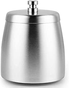 Lyricall Ashtray with Lid,Outdoor Ashtrays for Tabletop Large Windproof Stainless Steel Ashtray for Home/Office(Medium)