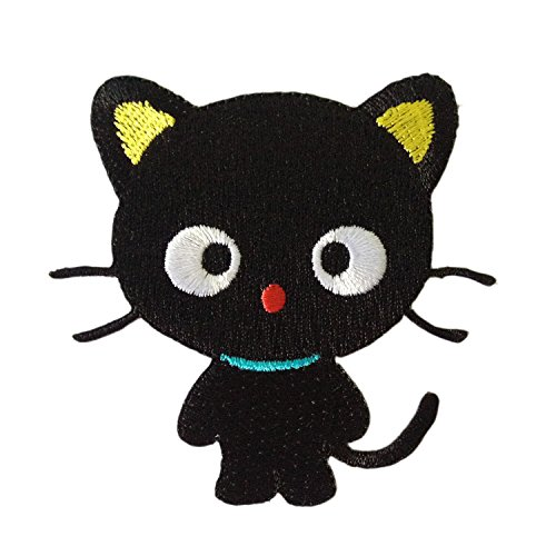 Halloween Black Cat Kitty Cute Iron on Patches Embroidered