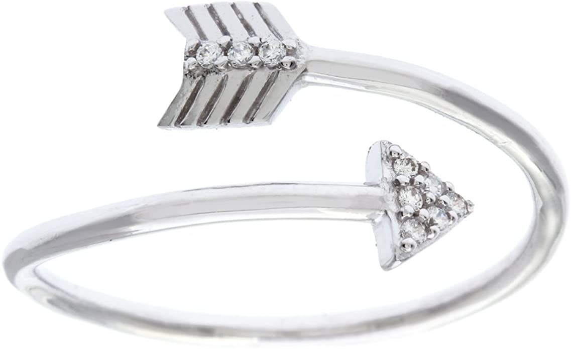 Princess Kylie Clear Round Cubic Zirconia Leaf Designer Ring Rhodium Plated Sterling Silver
