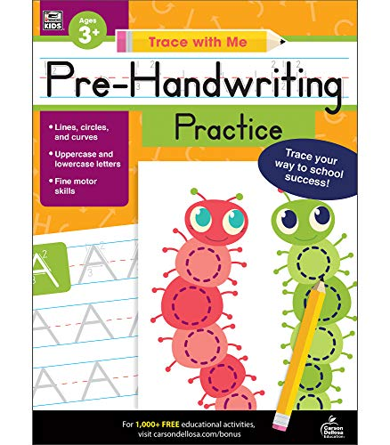 Carson Dellosa – Pre-Handwriting Practice Activity Book For Toddler, PK, K,  1st Grade, Paperback, 128 Pages, Ages 3+ (Reading Level I) World's  Biggest Leveled Book Database Readu