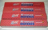 4 BOXES - 11'' Fireplace Matches, Long Reach, 160 Matches Total by Quality Home