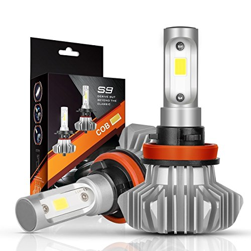 AutoFeel H11 LED Headlight Bulbs 7000LM IP68 Super Bright Car Exterior White Light Built-in Driver Lamp All-in-One Conversion Bulb Kit with Cool White Lights - 1 Year Warranty by AutoFeel