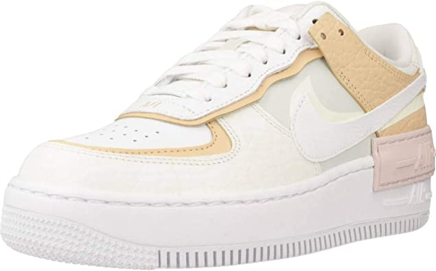 Nike AIR Force 1 Shadow Basket Femme Beige 41 EU: Amazon.fr ...
