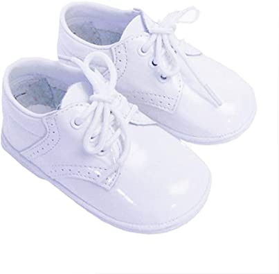 Infant Baby Boys Patent White Classic