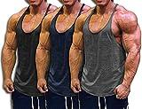 Muscle Cmdr Men's Bodybuilding Stringer Tank Tops