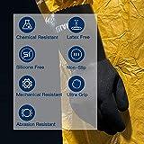 LANON Nitrile Chemical Resistant Gloves, Reusable