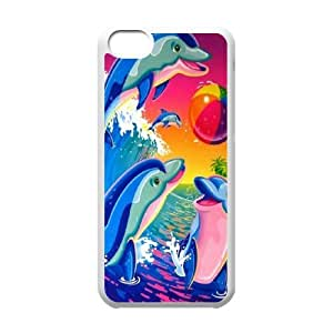 High Quality {YUXUAN-LARA CASE}Sea And Dolphins For Iphone 5c STYLE-12
