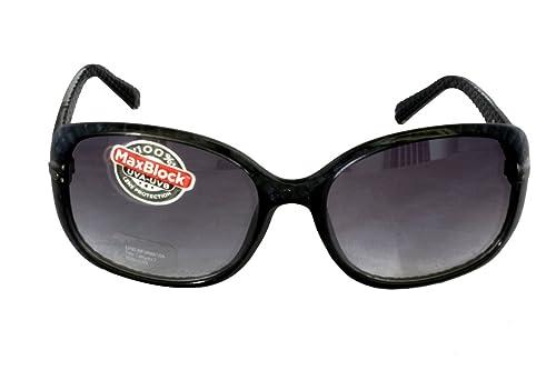 Foster Grant MISTY BLU FG96 Gafas de sol rectangulares del estilo de las mujeres Azul y negro brumos...