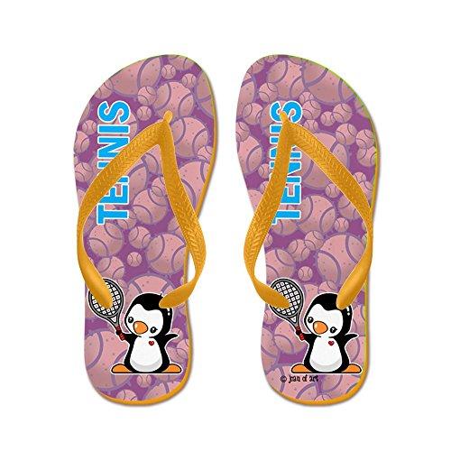 CafePress Tennis Flip Flops - Flip Flops, Funny Thong Sandals, Beach Sandals Orange