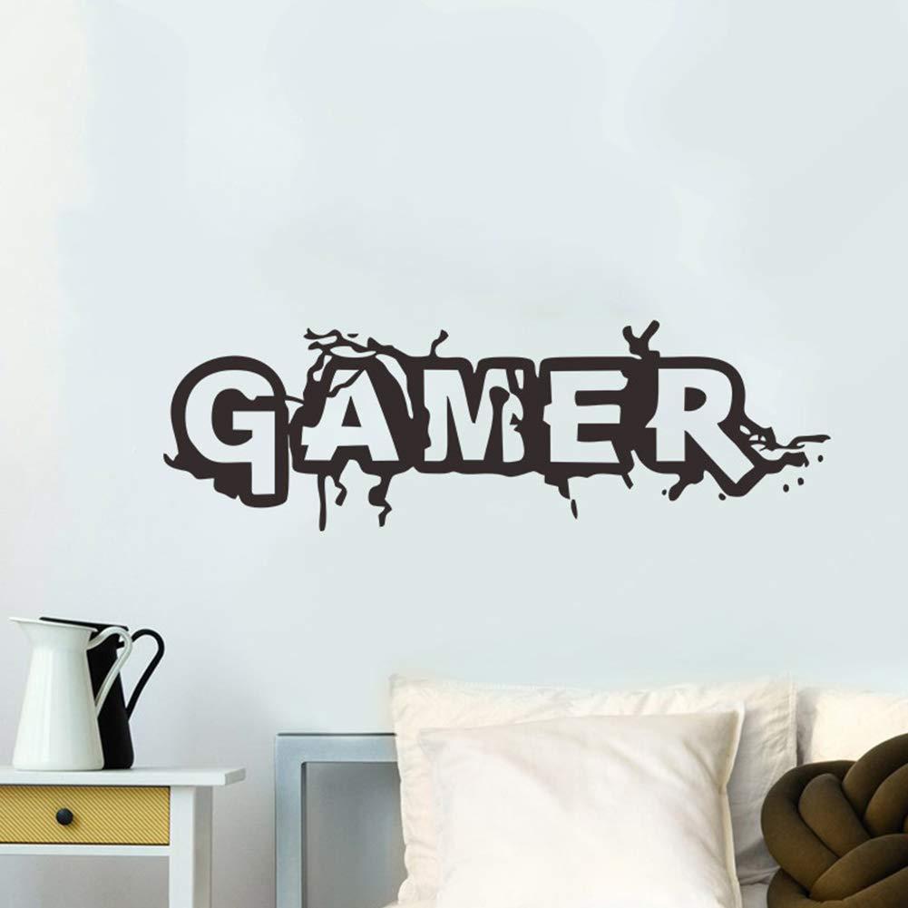 Poorminer Gamer Wall Decal Wall Sticker Playroom Bedroom ...