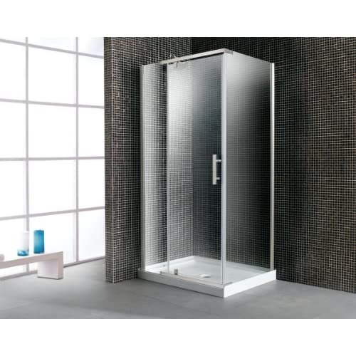 85%OFF OVE OWS-607A 40-Inch, 5/16-Inch Thick Glass Corner Shower Enclosure with Acrylic Base