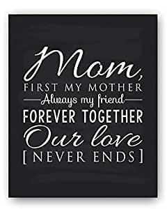 Mom Gift, Mom Quote Sign, Mom Chalkboard Print, Unique Gift for Mom and Mom Christmas Gift, Mom Wall Decor, Best Mom Gift, Mom Gift from Daughter, Mom Gift from Son - Ready to Hang, Hanger Included