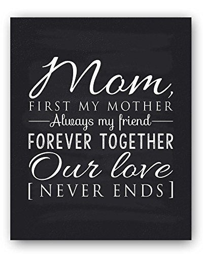 Mom Gift, Mom Quote Sign, Mom Chalkboard Print, Unique Gift for Mom and Mom Christmas Gift, Mom Wall Decor, Best Mom Gift, Mom Gift from Daughter, Mom Gift from Son - by Ocean Drop Designs