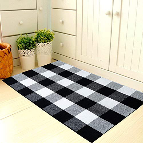 (Dave Z-ONE Outdoor/Indoor Buffalo Plaid Welcome Doormat 23.6