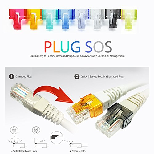 Amazon.com: 20 Pack Plug SOS Clips in White, for RJ45 Connector Fix ...