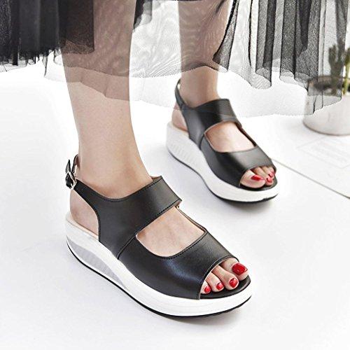 Shake Bebe Poisson Bouche Beautyjourney Chaussures éPaisse HIGT Fond Talon Chaussures Noel Sandales Tongs Sandales Femmes Montantes Noir De Femmes Fille Sandales 4fpYA
