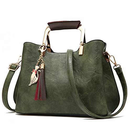 Bag Handbag Handbags Women Bag Totes Pu Women Ladies Green Laptop Retro Handbags Shoulder Office Leather UznrUfg