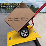 Stalwart Curb Ramp, Portable Poly Ramp With 1000lbs Weight Capacity