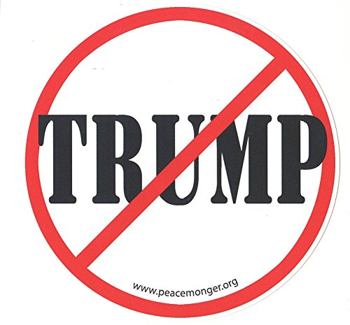 "Anti Trump Text 5"" Round Art Decal Bumper Sticker"