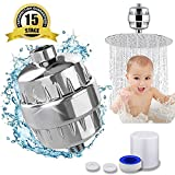15 Stage Shower Filter for Hard Water Filter Vitamin C - Removes Chlorine, Impurities & Unpleasant Odors - Shower Filters - For Any Showerhead and Handheld Shower