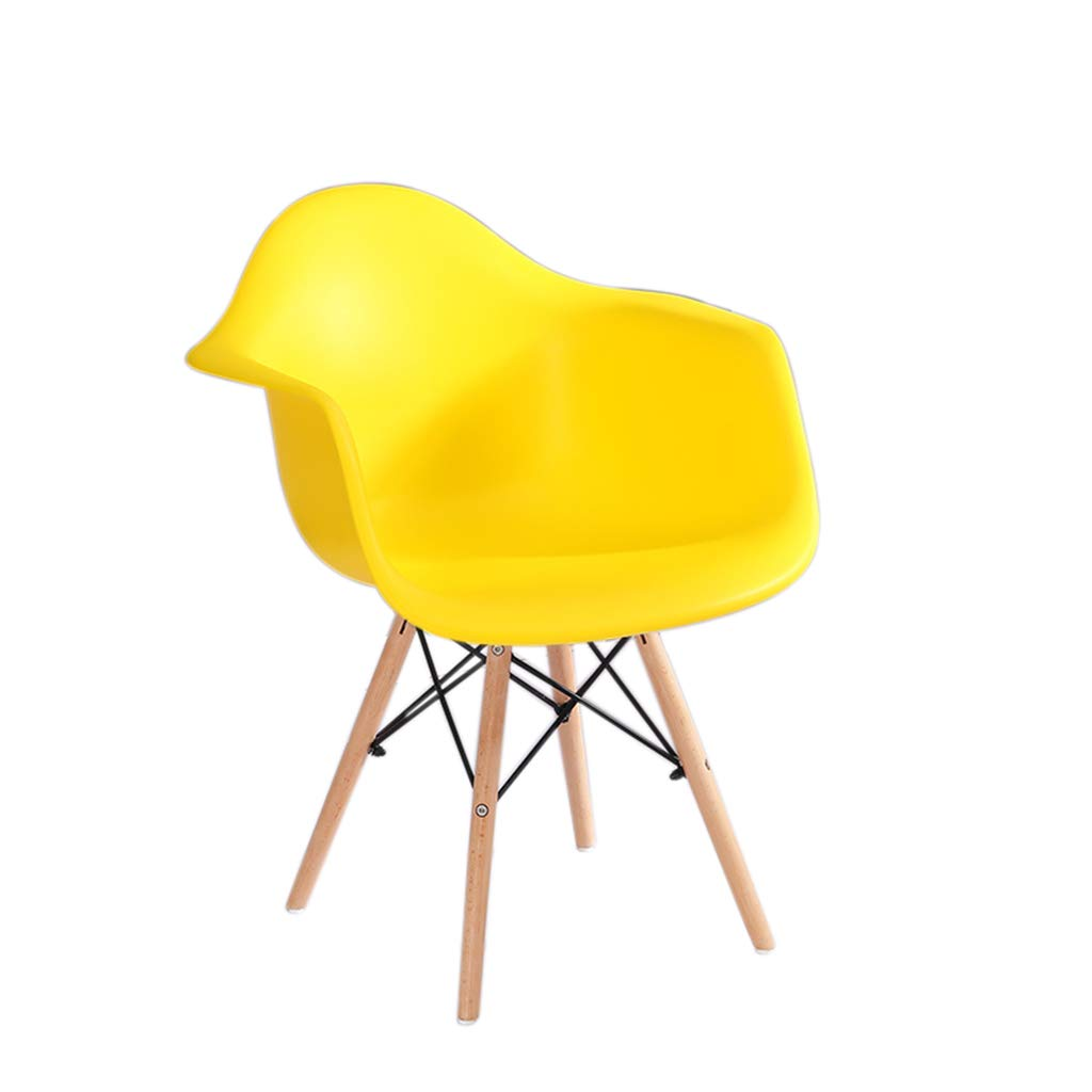 Yelloe JU FU Chair Modern Minimalist Dining Chair Computer Chair Armchair Office Chair - Multi-color Optional (Size  41X39X98cm) @@ (color   Yelloe)