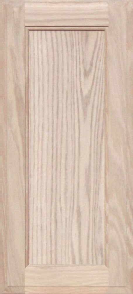 Unfinished Oak Square Flat Panel Cabinet Door by Kendor, 22H x 10W