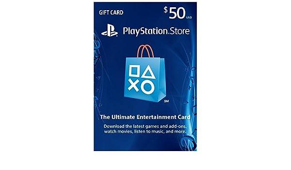 Sony Playstation PSN Dólar de $50 Regalo Tarjeta de prepago para ...