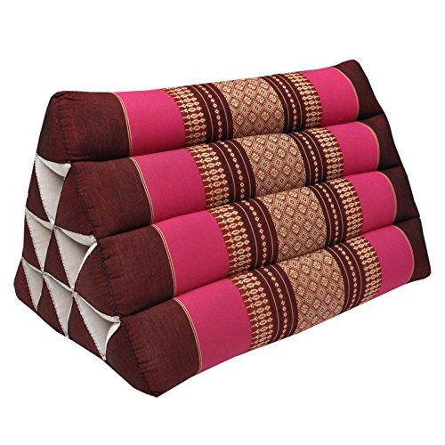 Thai triangular cushion, relaxation, beach, kapok, made in Thailand, Bordeaux/Pink (81400) by Wilai GmbH