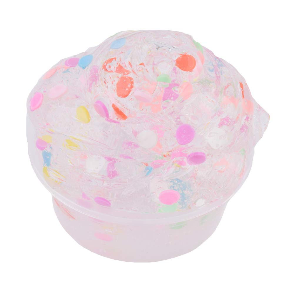 Wenjuan Beautiful Crystal Slime - Fruit Scented Slime Squishies - Stress Relief Kid Clay Toys - DIY Art Craft Sludge Mud for Boys Girls - 60ml (E)