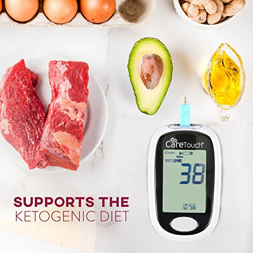 Care-Touch-Ketone-Testing-Kit-Ketone-Meter-w-Strip-Ejection-10-Ketone-Blood-Test-Strips-10-Lancets-Lancing-Device-Carrying-Case-for-Diabetics-and-Ketogenic-Paleo-Atkins-Diet