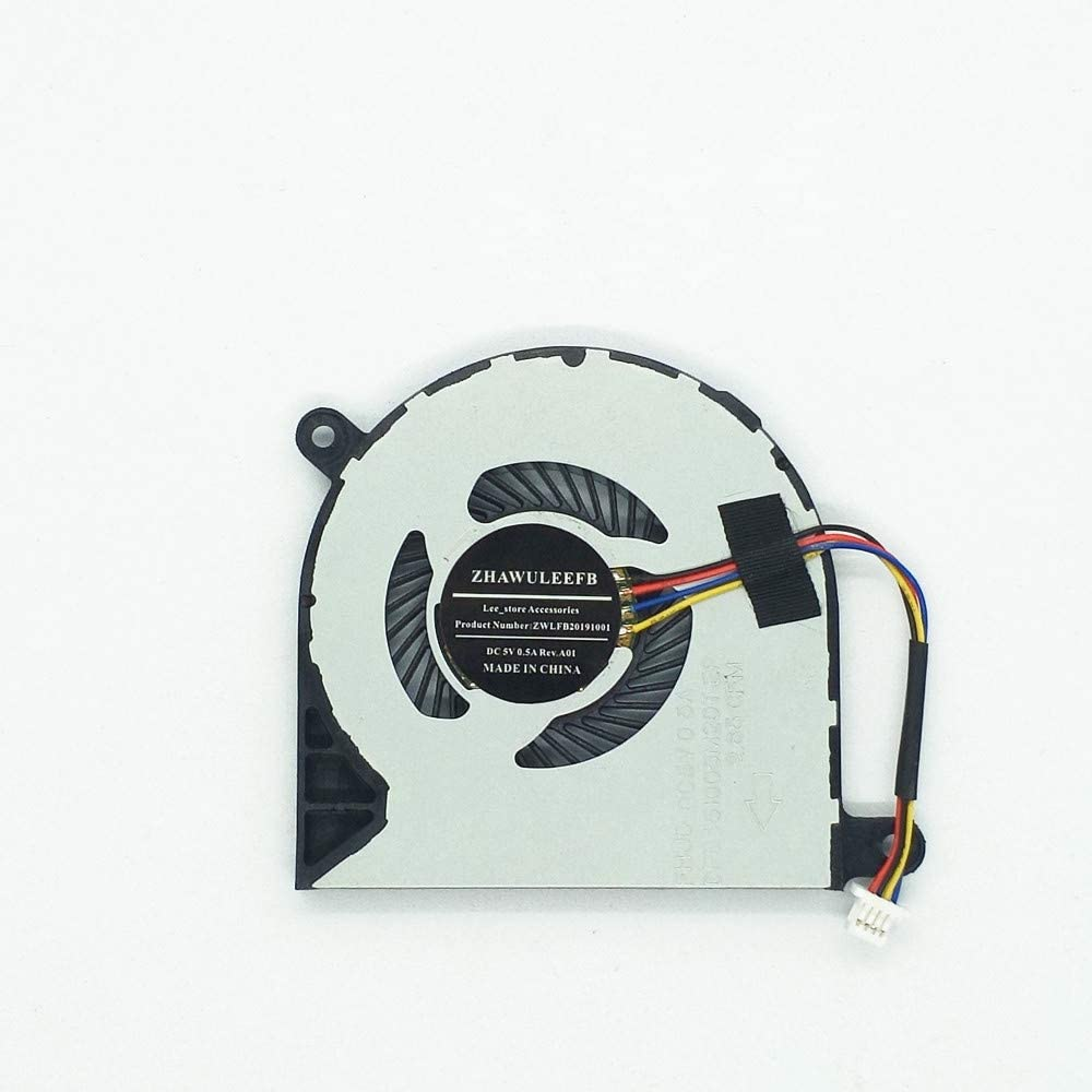 Lee_store 4-Wire 4-Pin CPU Cooling Fan for Dell Inspiron 13 5000 5368 5378 5379 13MF Inspiron 15 7378 7579 7569 Series Compatible Part Number: 31TPT 031TPT CN-031TPT