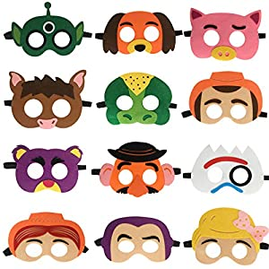 12pcs Toy Story Party Masks Birthday Cosplay Character for Kids Party Supplies Favors