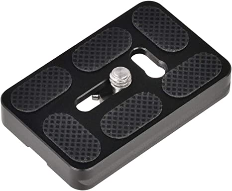 Neewer 2 Pieces Metal PU-50 50 Millimeter Universal Quick Shoe Plate with 1//4 inch Screw,Fits Arca-Swiss Standard for Camera Tripod Ball Head Black